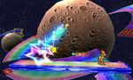 Samus y Estela en la Senda Arco Iris SSB4 (3DS)