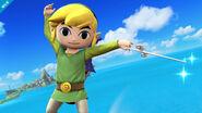Toon Link en la Isla de Pilotwings SSB4 (Wii U)