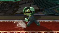 Ataque Smash hacia arriba Luigi SSBB (1)