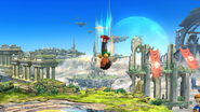 Karateka Mii usando Cabezazo meteórico (2) SSB4 (Wii U)