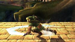 Ataque Smash hacia abajo Link SSBB (2)