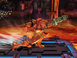 Ataque Smash lateral (arriba) Samus SSBB