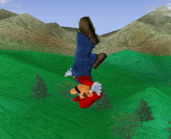 Ataque aéreo hacia arriba de Mario SSBM