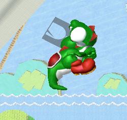 Ataque aéreo hacia atrás de Yoshi (2) SSBM