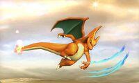 Ataque aereo hacia adelante de Charizard SSB4 (3DS)