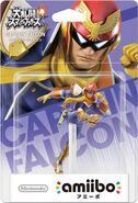 Embalaje del amiibo de Capitán Falcon (Japón)