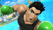 Little Mac en la Isla de Pilotwings SSB4 (Wii U)