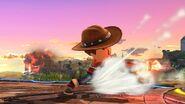 Ataque de recuperación boca abajo (2) Tirador Mii SSB4 Wii U