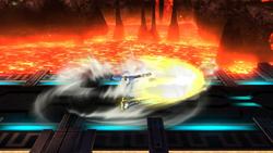 Ataque de recuperación desde el suelo (boca abajo) de Samus Zero (2) SSB4 (Wii U)
