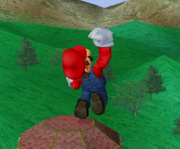 Ataque fuerte hacia arriba de Mario SSBM