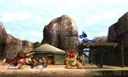 Donkey Kong, Fox, Bowser y Lucario en el Valle Gerudo SSB4 (3DS)