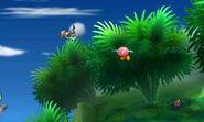 Greninja junto a Bronto en Smashventura SSB4 (3DS)