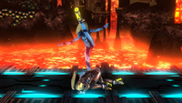 Lanzamiento inferior de Samus Zero (1) SSB4 (Wii U)