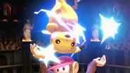 Pikachu junto a Diddy Kong SSBU