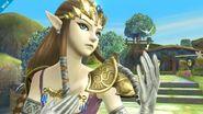 Zelda en Altárea viendo hacia la derecha SSB4 (Wii U)