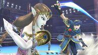 Zelda y Marth en el Ring de boxeo SSB4 (Wii U)