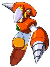 Artwork de Crash Man en Mega Man 2