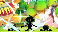Ataque Smash inferior Mr. Game & Watch SSBU