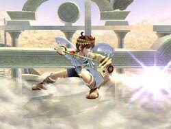 Ataque Smash inferior Pit SSBB