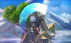 Ataque aéreo hacia arriba Lucina SSB4 (3DS)