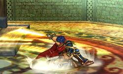 Ataque de recuperación boca arriba Ike (2) SSB4 (3DS)