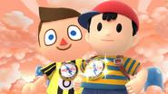 Créditos Modo Leyendas de la lucha Ness SSB4 (Wii U)