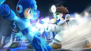 Dr. Mario y Megaman en el Castillo de Wily SSB4 (Wii U)