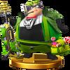 Trofeo de Wonder-Green SSB4 (Wii U)