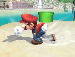 Ataque de recuperación de cara al suelo (1) Mario SSBB