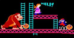 Mario, Pauline y DK en Donkey Kong (Arcade)