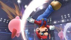 Ataque aéreo hacia arriba Mario Wii U SSB4