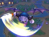 Ataque aéreo inferior Meta Knight SSBB