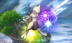 Ataque aéreo normal Mewtwo (1) SSB4 (3DS)