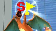 Charizard sosteniendo la Bandera especial SSB4 (Wii U)