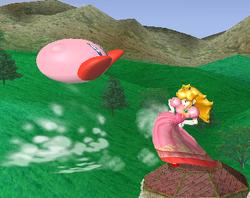Lanzamiento trasero de Peach (2) SSBM