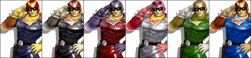 Paleta de colores Captain Falcon SSBM