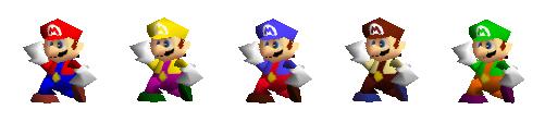 Paleta de colores Mario SSB