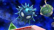 Unira en el escenario Galaxia Mario SSB4 (Wii U)