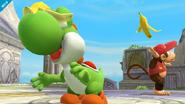 Yoshi junto a Diddy Kong SSB4 (Wii U)