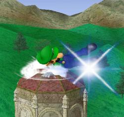 Ataque Smash hacia abajo de Luigi (1) SSBM