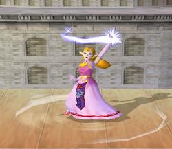 Ataque Smash hacia arriba de Zelda (2) SSBM