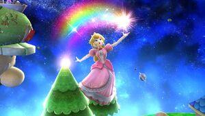 Ataque aéreo hacia arriba Peach SSB4 Wii U