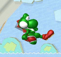 Ataque aéreo normal de Yoshi SSBM