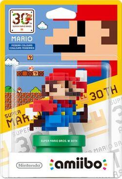 Embalaje del amiibo de Mario Colores Modernos (serie 30 aniversario)