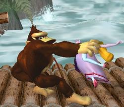 Lanzamiento trasero de Donkey Kong (1) SSBM