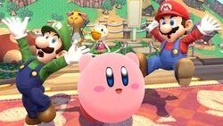 Luigi, Kirby y Mario SSB4 (Wii U)