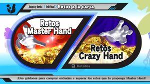 Opciones de Retos a la carta SSB4 (Wii U)