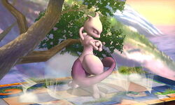 Burla hacia arriba Mewtwo (1) SSB4 (3DS)