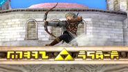 Link en el Templo SSB4 (Wii U)