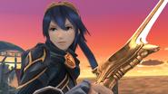 Lucina y su Falchion en el Campo de batalla SSB4 (Wii U)